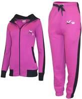 X-2 Women Athletic Full Zip Fleece Tracksuit Jogging Sweatsuit Activewear Hooded Top L