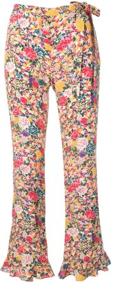Etro Flower Print Flare Trousers