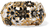Kenneth Jay Lane Gold-Tone Crystal, Faux Pearl And Resin Bracelet