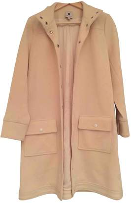 Lisa Perry Ecru Wool Coat for Women