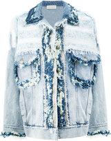 Faith Connexion frayed denim jacket