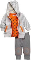 Isaac Mizrahi Long Sleeve Top, Hoodie & Pant 3-Set (Baby Boys)