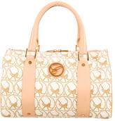 Chopard Printed Leather-Trimmed Handle Bag