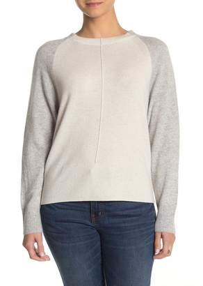 Vince Colorblock Raglan Sleeve Crew Neck Cashmere Sweater