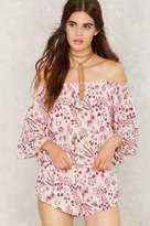Factory Jordana Off-the-Shoulder Romper