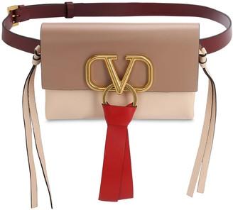 Valentino V Ring 3 Color Smooth Leather Belt Bag