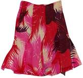 Chaiken Red & Pink Printed Skirt