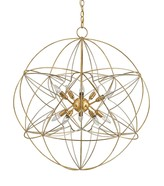 The Well Appointed House Gold and Silver Atom Orb 10-Light Chandelier