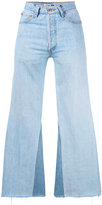 RE/DONE flared patchwork jeans