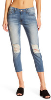 Just USA Distressed Relax Fit Cropped Skinny Jeans