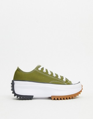 Converse Run Star Hike Ox sneakers in dark moss