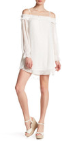 Blu Pepper Off-the-Shoulder Long Sleeve Woven Dress