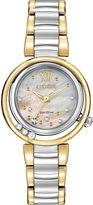 Citizen Eco-Drive Womens Diamond-Accent Two-Tone Watch EM0324-58D