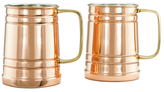 Old Dutch Metallic Beer Steins (Set of 2)