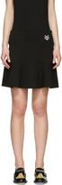 Kenzo Black Tiger Crest Miniskirt