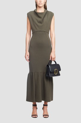 3.1 Phillip Lim Cowl Neck Military Ribbed Dress