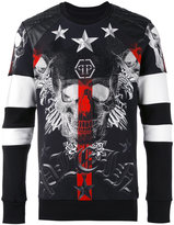 Philipp Plein skull print sweatshirt - men - Cotton/Polyester/Polyurethane - S