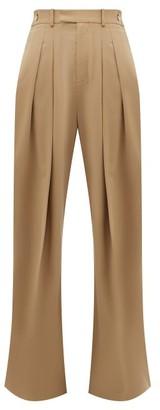 J.W.Anderson High-rise Wool-twill Wide-leg Trousers - Womens - Beige