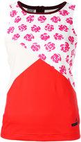 adidas by Stella McCartney floral print tank top - women - Polyester/Spandex/Elastane - XS