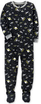 Carter's 1-Pc. Space-Print Glow-In-The-Dark Footed Fleece Pajamas, Little Boys (4-7) and Big Boys (8-20)