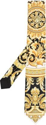Versace Barocco-print silk tie