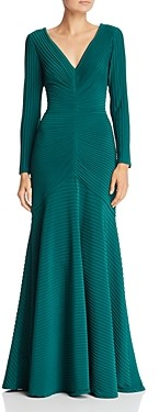 Tadashi Shoji Pintuck Pleated Gown