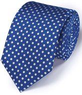 Charles Tyrwhitt Blue Silk Classic Oxford Spot Tie