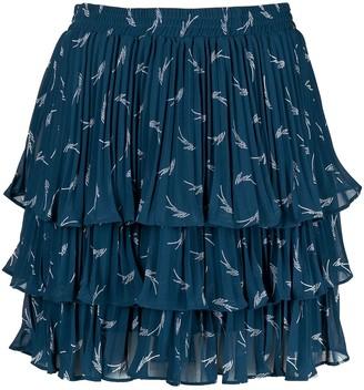 MICHAEL Michael Kors Logo-Print Ruffle Skirt