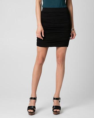 Le Château Slub Jersey Ruched Mini Skirt