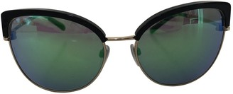 Bvlgari Green Metal Sunglasses