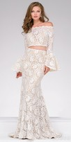 Jovani Lace Two Piece Bell Sleeve Prom Dress