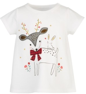 First Impressions Baby Girls Holiday Deer Dancer T-Shirt, Created for Macy's