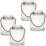 Amalfi by Rangoni Lexis Hurricane Candle Holder (Set of 4)