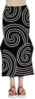 Stella McCartney Mid-Rise Fluted Midi Skirt, Black