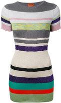 Missoni striped knit T-shirt - women - Cupro/Polyester/Rayon - 48