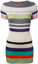 Missoni striped knit T-shirt - women - Polyester/Cupro/Rayon - 48