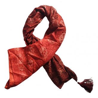 Alexander McQueen Orange Silk Scarves