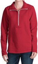 Tommy Bahama Aruba Stretch Cotton Sweatshirt - Zip Neck (For Women)