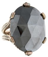 Stephen Dweck Sterling Hematine Cocktail Ring