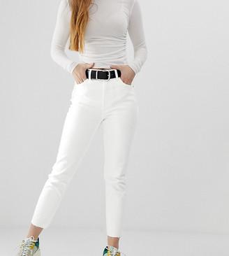 Bershka straight jean in white