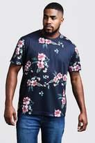 BoohooMAN Big & Tall Floral Print T-Shirt