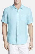 Tommy Bahama Men's 'Party Breezer' Island Modern Fit Short Sleeve Linen Sport Shirt