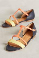 Emma.Go Emma Go Paint Splatter T-Strap Sandals