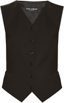 Dolce & Gabbana Satin-backed wool and silk-blend waistcoat