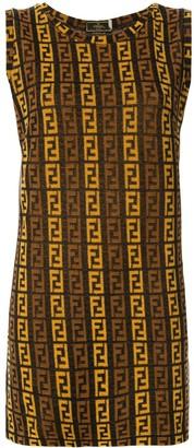 Fendi Pre Owned FF logo sleeveless dress