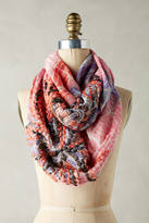 Anthropologie Abstract Embroidered Infinity Scarf
