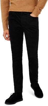 Topman Microcord Skinny Fit Pants