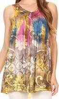 Sakkas 87131 - Melanie Tie Dye Batik Tank with Sequins and Embroidery - OS