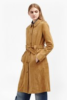 French Connection Tara Suede Belted Coat