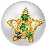 Carolina Bucci Superstellar Pearl Stud With Pavé Star, Green, One Size